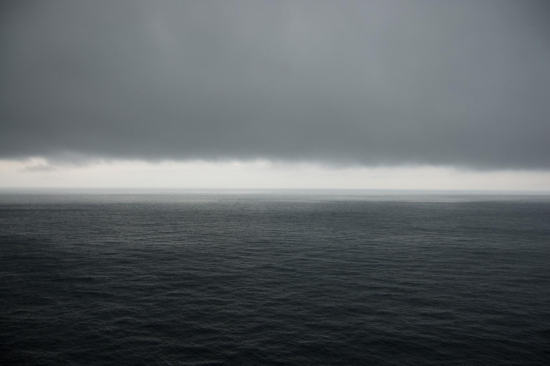 Pour vous donner une idée de la brume et la noirceur déprimante de la journée.