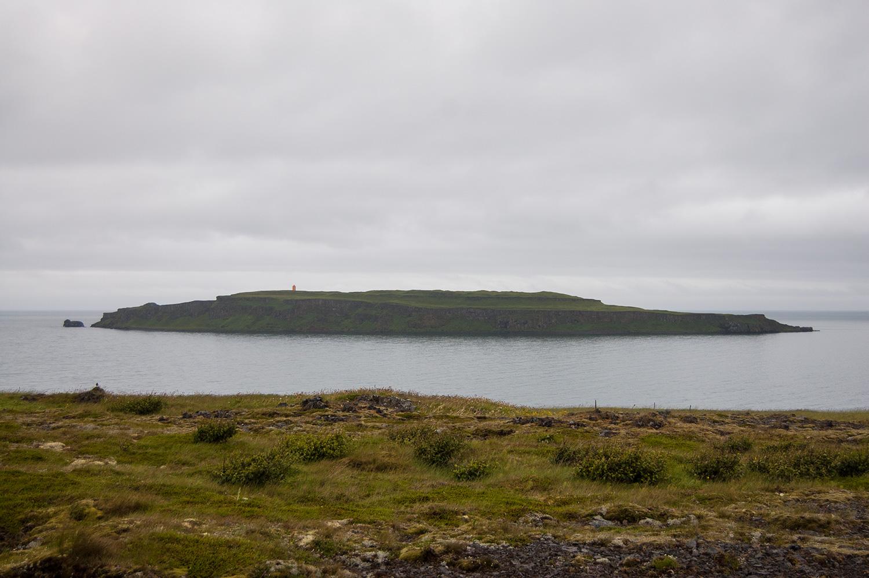 L'île où on aurait pu voir des macareux.